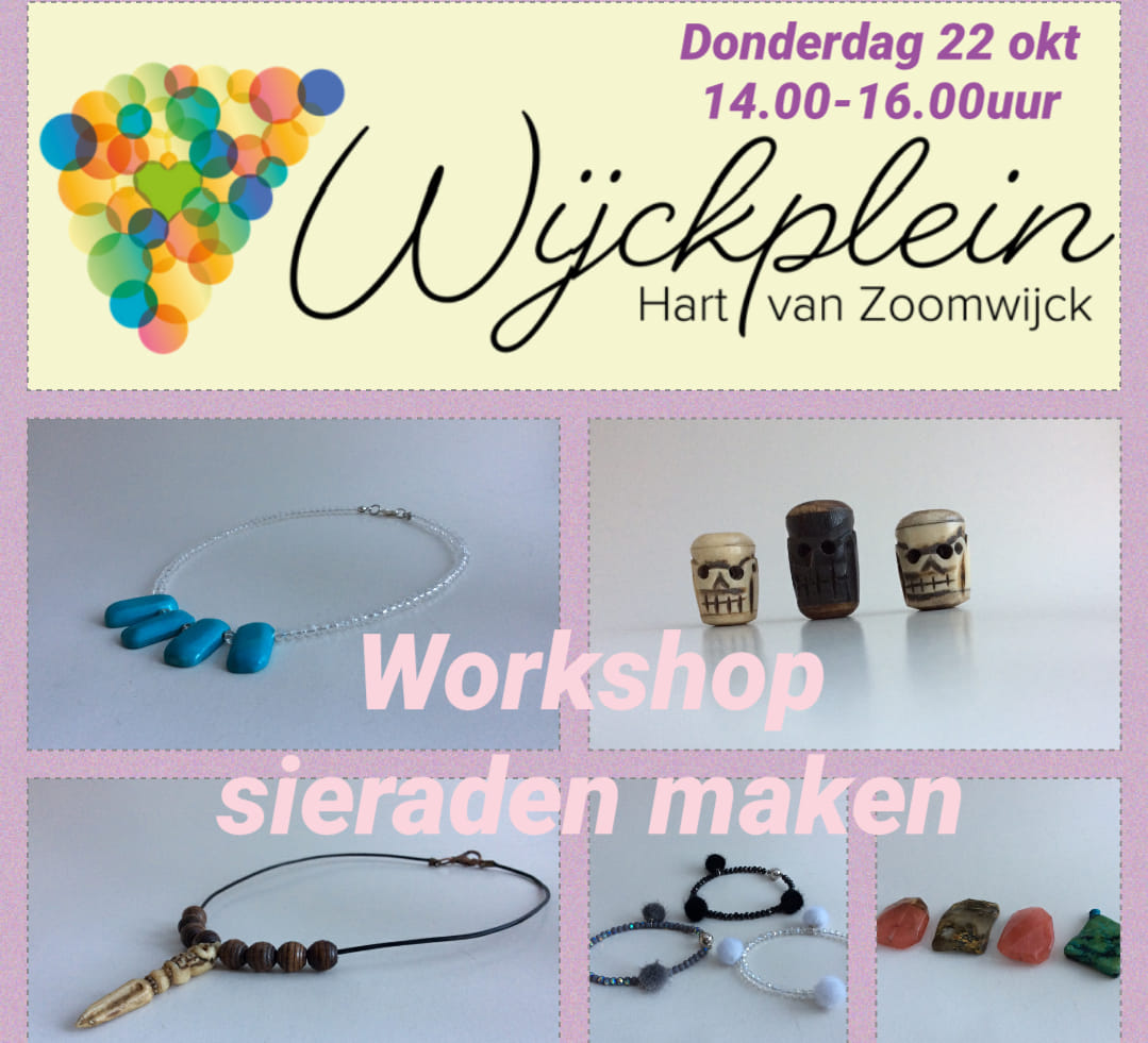 Workshop sieraden maken (aanmelden verplicht)
