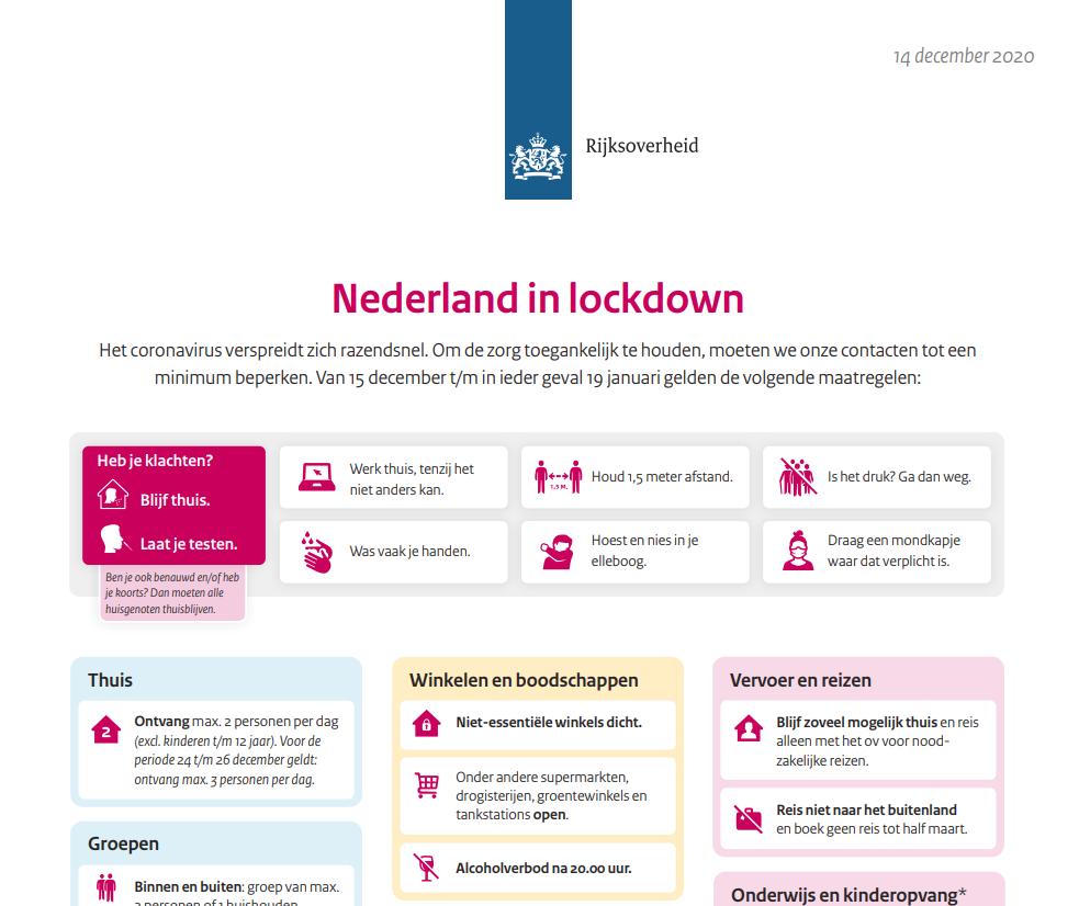 Wat betekent de lockdown voor bezoek aan onze zorglocaties?